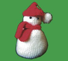 Mrs Santa knitted jolly snow man design Kids Clothes