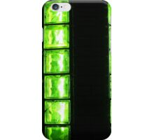 Decorative wall with green glowing at night iPhone Case/Skin