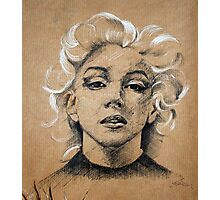 Marilyn ink B&W Photographic Print