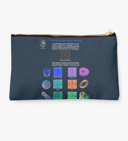 Topological Fundamental Polygons Studio Pouch