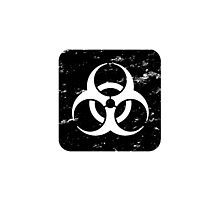 Square-Biohazard-Black Photographic Print