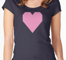 Pastel Magenta  Women's Fitted Scoop T-Shirt