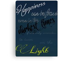 Dumbledore- Happiness can be found Canvas Print