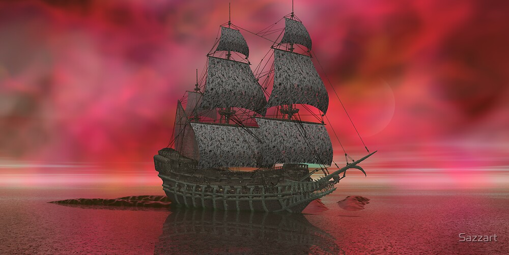Mariner's Nemesis - Flying Dutchman by Sazzart