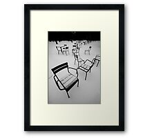 Paris in the snow Framed Print
