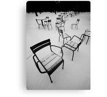 Paris in the snow Canvas Print