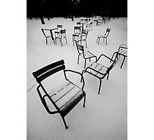 Paris in the snow Photographic Print