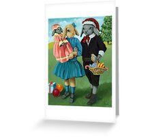 Randolph and Millie - Christmas Greetings animal art Greeting Card