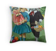 Randolph and Millie - Christmas Greetings animal art Throw Pillow
