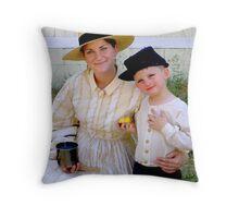 Civil War Reenactment Throw Pillow