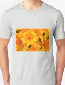 Tagette Blossoms Macro Unisex T-Shirt