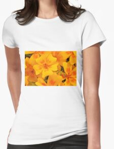 Tagette Blossoms Macro Womens Fitted T-Shirt
