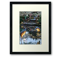 The Twins in Winter Framed Print