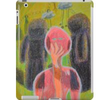 Disappearance of the Woman and Her Own Two Stone Children With Clouds On Wheels iPad Case/Skin