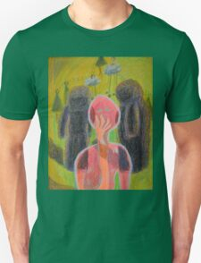 Disappearance of the Woman and Her Own Two Stone Children With Clouds On Wheels Unisex T-Shirt