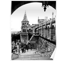 Budapest in Black and White Poster