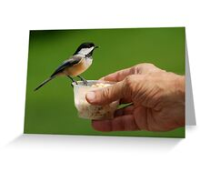 FEADING HAND Greeting Card