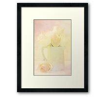 Marshmallow Roses Framed Print