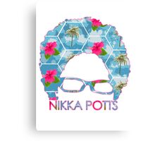 Nikka Potts Logo - Tropicalia Canvas Print