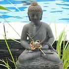 Buddha by pool. by Amanda Gazidis