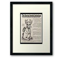 Spring-Heeled Jackalope (information) Framed Print