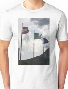 flag in the mountain Unisex T-Shirt
