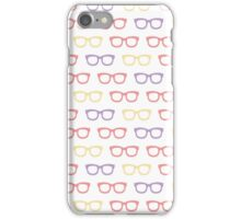 Seamless pattern with retro sunglasses iPhone Case/Skin