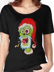 Santa Zombie Head Women's Relaxed Fit T-Shirt