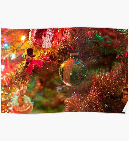 Christmas tree close up. Poster