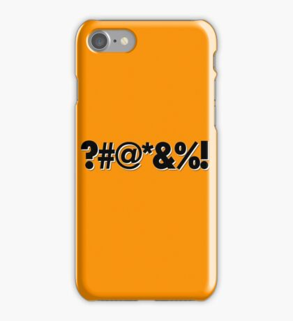 Q*Bert Parody ?#@*&%!  iPhone Case/Skin