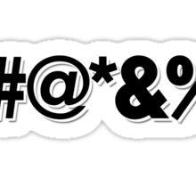 Q*Bert Parody ?#@*&%!  Sticker