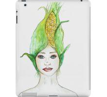 Miss Corn- growing food everywhere iPad Case/Skin