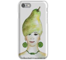 Miss Pear- growing food everywhere iPhone Case/Skin