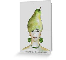 Miss Pear- growing food everywhere Greeting Card