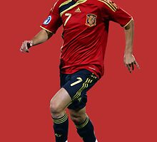 David Villa by SALSAMAN