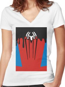 Spider-Man Symbiote Women's Fitted V-Neck T-Shirt