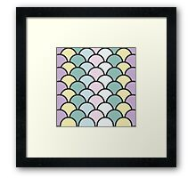 PASTEL SCALES  Framed Print