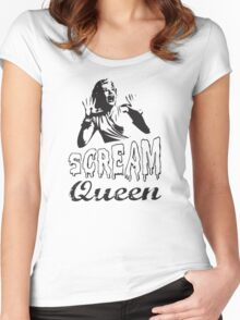 Scream Queen Retro  Women's Fitted Scoop T-Shirt