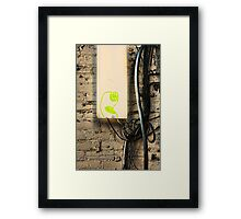 Alice Sees into the Garden Framed Print