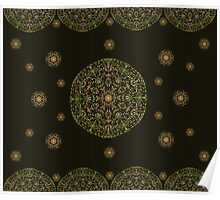 Gold Mandala with Black background Poster