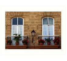 Two windows - Cadiz Art Print