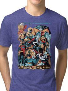 HANNA-BARBERA SUPER HEROES OLD Tri-blend T-Shirt