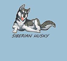 Husky love - Black Unisex T-Shirt