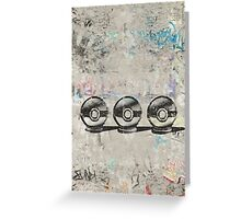 Pokemon - 3 Pokéballs Graffiti (Black) Greeting Card