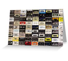 cassette tape wall in australia Greeting Card