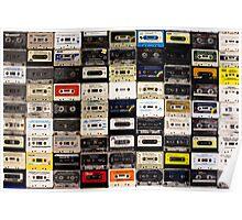 cassette tape wall in australia Poster