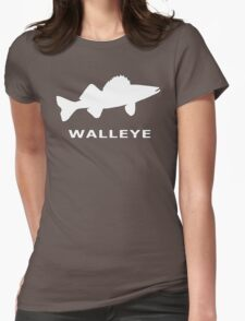 WALLEYE. JUST WALLEYE Womens Fitted T-Shirt