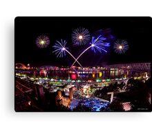 Cincinnati, Fireworks Canvas Print