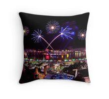 Cincinnati, Fireworks Throw Pillow