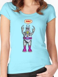 Angry Robot Women's Fitted Scoop T-Shirt